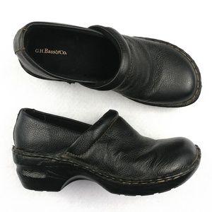 GH Bass & Co Genuine Leather Clogs Size 6.5 Medium